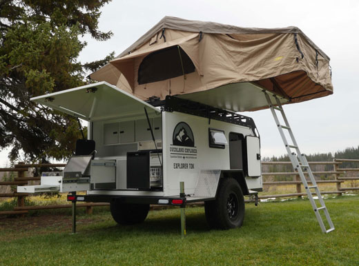 how to add a rooftop tent to your teardrop trailer