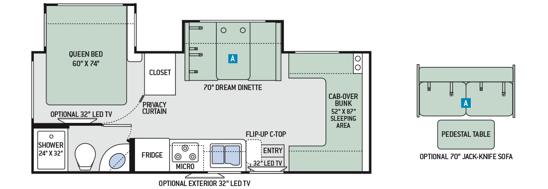 2017-Four-Winds-Sprinter-24FS-Floor-Plan