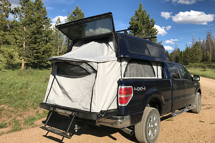 Turn Your Truck Bed And Topper Into A Pop Up Camper With Topperezlift